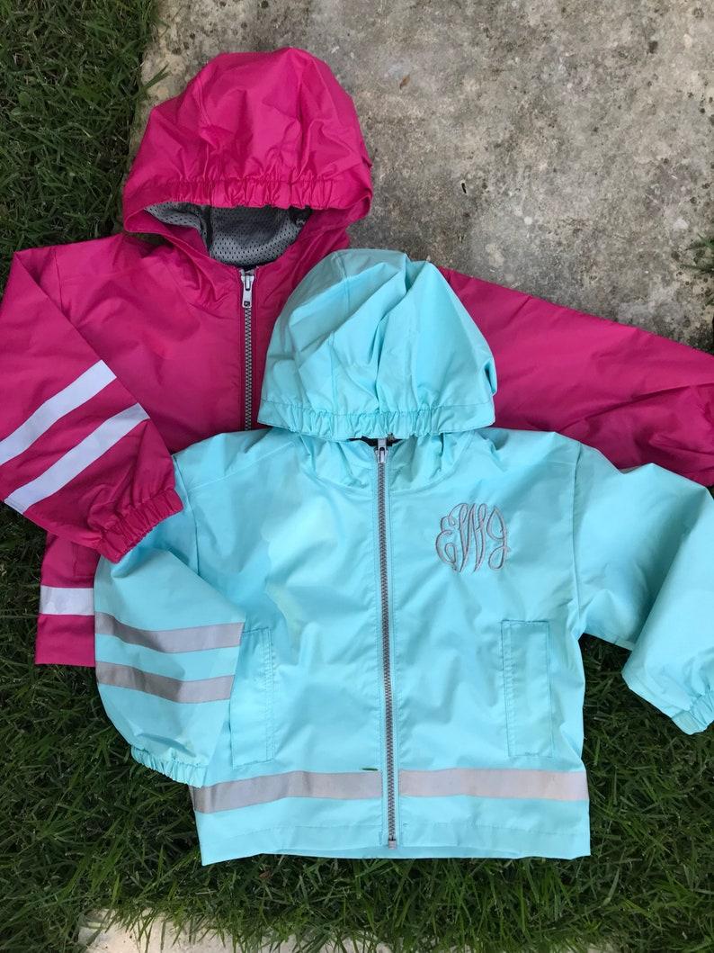 2d57391bbc6d Monogrammed Toddler Rain Jacket   Charles River New Englander