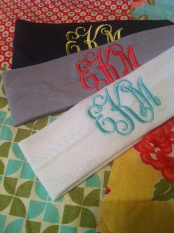Monogrammed Cotton Stretch Headband  28a16783138