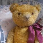 Vintage golden mohair teddy bear c1930s