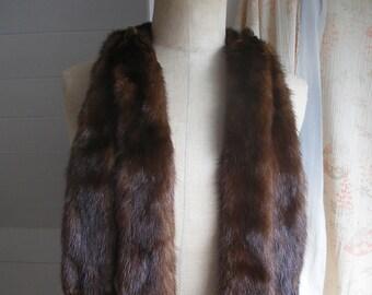 Vintage mink fur stole c1930s
