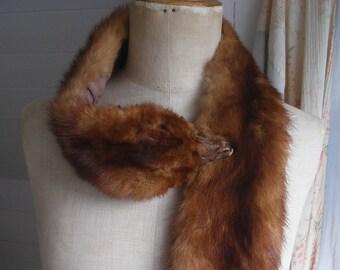 Vintage fur stole c1930s