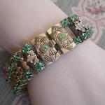 c1930s bracelet with green stones