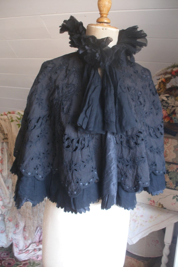 Original Victorian black cape