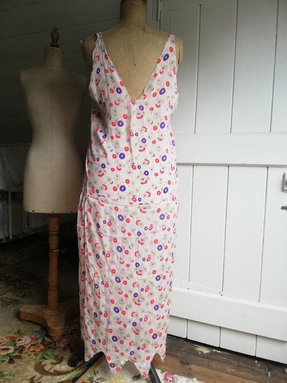 Original 1920s dress, silk chiffon flapper dress - image 4
