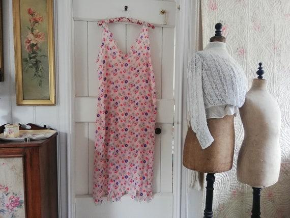 Original 1920s dress, silk chiffon flapper dress - image 1