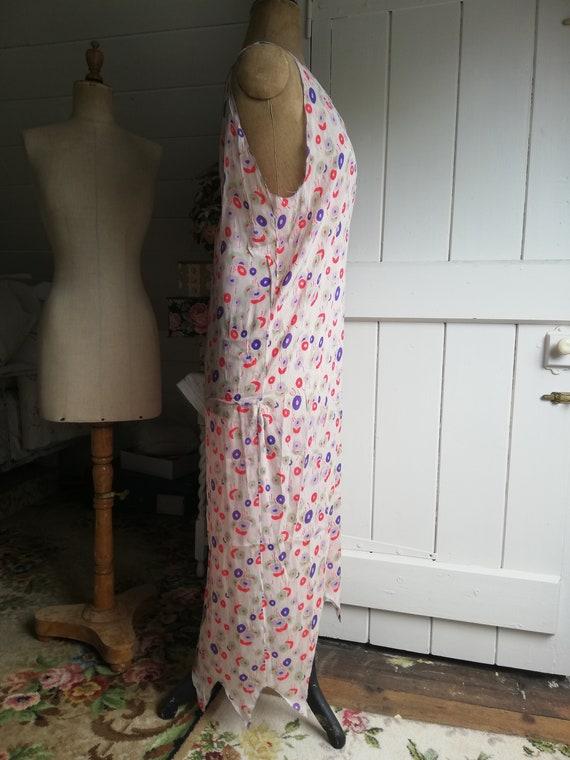 Original 1920s dress, silk chiffon flapper dress - image 3