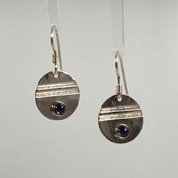 Sterling Silver Iolite Gemstone Earrings