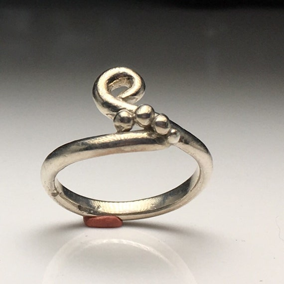 Sterling Silver Handmade Ring Size 7.5