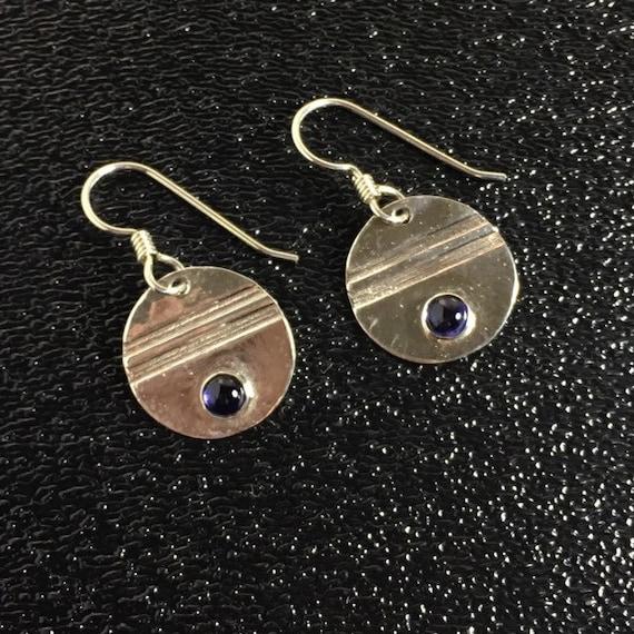 Original Iolite Gemstone Earrings in Sterling Silver