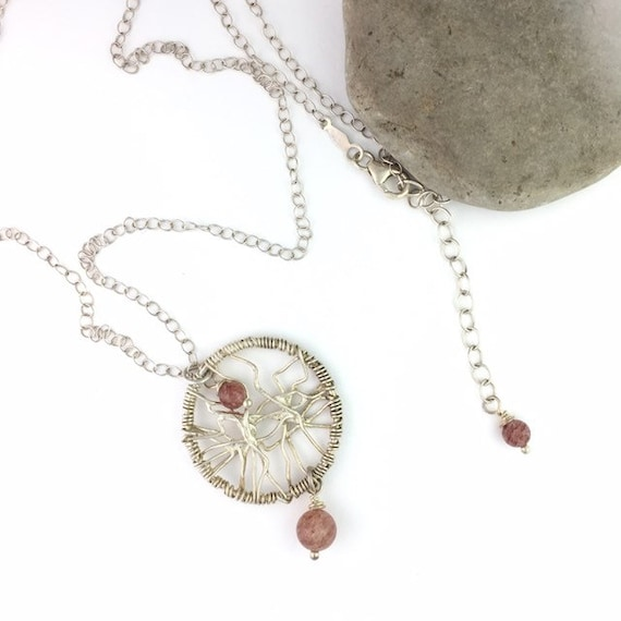 Dream Catcher Necklace with Russian Muscovite Bead
