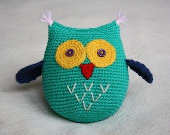 Crochet Owl Soft Toy