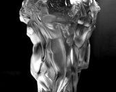 Bohemian Art Deco Nude Figural Glass Vase H.Hoffmann