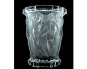 French Nude Figural Art Deco Bohemian Glass Large Vase 1930 39 s H.Hoffmann