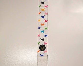 Cats Guitar Strap - Multi Colour - Handmade in Scotland - Vegan Leather - Sturdy Reinforced Ends - Mighty Beast