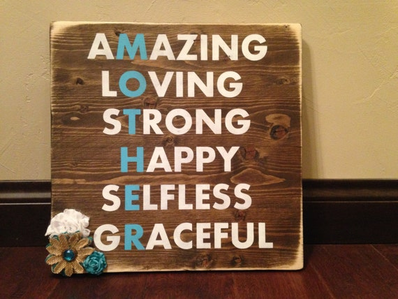 Mothers Day Gift Rustic Mom Gift Wood Sign Etsy