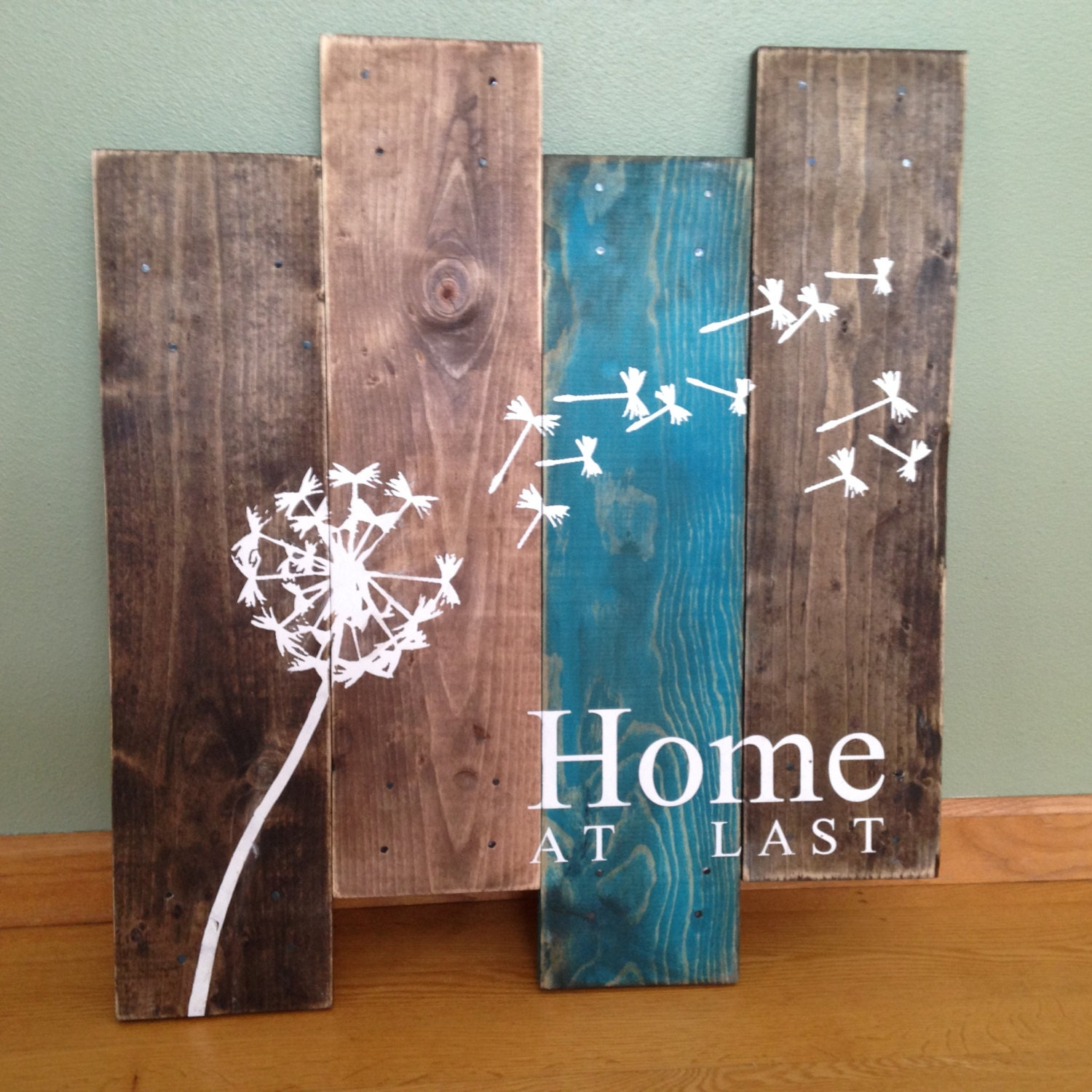Dandelion Wall Hanging Home At Last Rustic Wall Decor
