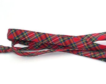Handmade Scottish Red Tartan Leash