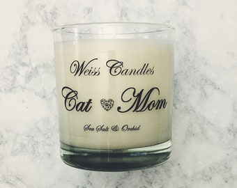 Cat Mom Candle   Soy Candle   Mother's Day Gift   Pet Mom Candle   New Pet Owner Gift