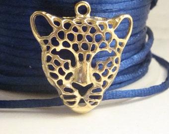 Gold plated Jaguar pendant