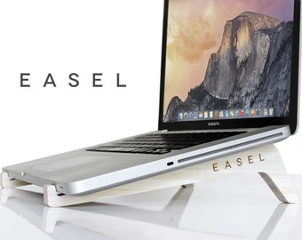 EASEL | Magnetic Laptop Cooling Stand - Computer Docking Station - Ergonomic Travel Size MacBook Holder - Gift for Him / Her - Fast Shipping