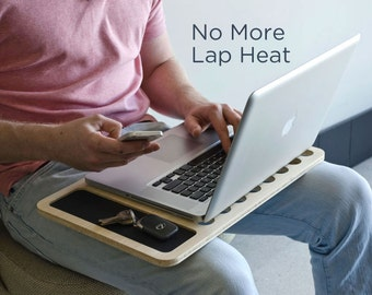 SlateGo Mobile LapDesk | Travel Size Lap Desk - On the Go Laptop Macbook Station for Backpack or Bag - Gift for Him / Her - Fast Shipping