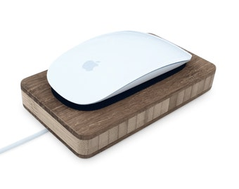 Station for Magic Mouse | the Perfect dock for your Magic Mouse 2 - Wood Apple Accessory Charging Port - Gift for Him / Her - Fast Shipping