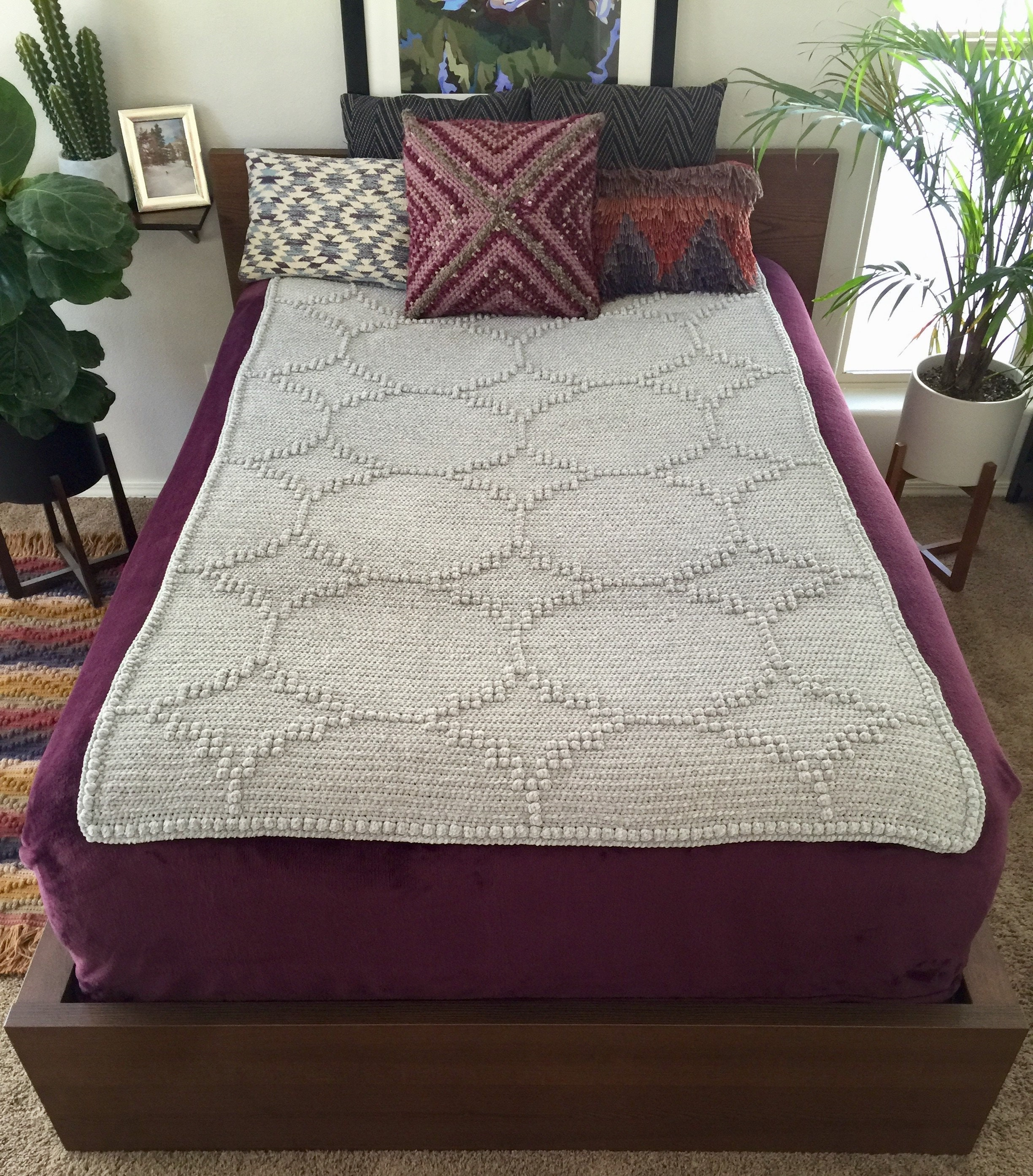 Luxe Wedding Blanket Crochet Pattern And Tutorial Pdf Instant Etsy
