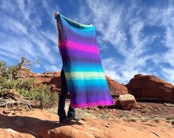 Let It Fly Mandala Blanket Crochet Pattern, PDF Instant Download, Non-Profit Shop, Beginner Photo Tutorial, Baby, Toddler, Child, Adult size