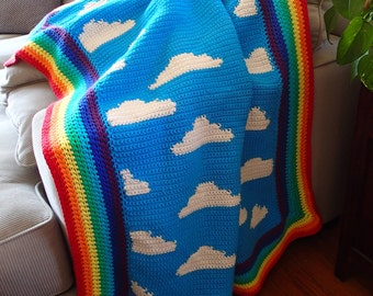 The Beautiful Day Blanket Crochet Pattern, PDF Instant Download, Nonprofit Shop
