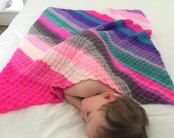 Three Mandala Thrill Baby Blanket Crochet Pattern and Beginner Photo Tutorial, PDF Instant Download, Non-Profit Shop, Toddler C2C Afghan
