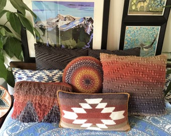 Mountain and Mesa Pillow Set Crochet Pattern and Tutorial, PDF Instant Download, Non-Profit Shop, Beginner Photo Tutorial, Scrap Cushions