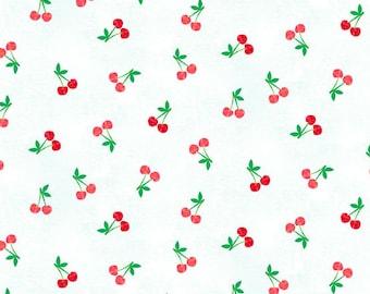 Cherries White Makower Fabric Multiple Size Fruity Friends 100/%Cotton