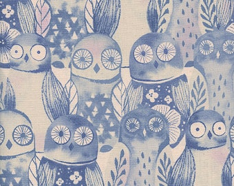 Firelight - Wise Owls Lilac - Sarah Watts - Cotton and Steel (c5178-02)