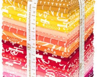Precut Blueberry Park Bright colorstory Fat Quarter Bundle - Karen Lewis - Robert Kaufman (FQ-992-25)