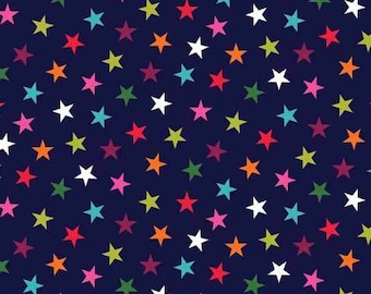 Wrap It Up - Stars in Navy - Makower UK - Andover (TP-1609-B)