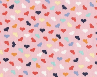 SALE French Lessons - Scattered Hearts Pink - Dear Stella (Stella-JL388-PINK)