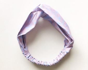 Phyllis Fabric Headband - Turban headband - Pastel Dusk - Boho headband - Womans headband - Adult headband - Dusty Pink headband