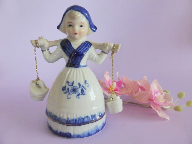 Delft Latest Collection Of Delft Blue Dutch Milk Maid Hand Painted Beautiful And Charming
