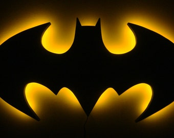 Batman light etsy batman logo led wall light night light aloadofball Choice Image