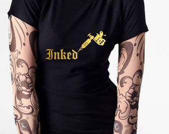 DIY Iron On Transfer Inked Tattoo Print Heattransfer | Various colors & sizes available