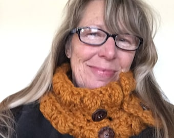 Crochet Chunky Infinity Scarf/Cowl Wool Blend