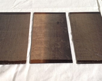 Bog Oak Head Veneers. BLACK AND TAN. Guitar. Kiln dried 3300bc. Black, native, hardwood. See description for dimensions.