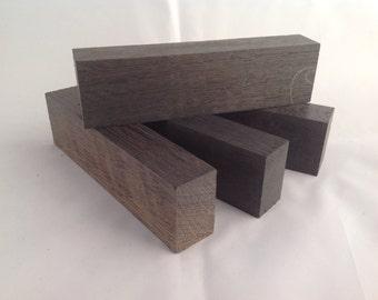 150 x 40 x 23/25mm Bog Oak knife handle blank. BLACK. Kiln dried. Pack of 4. 3300BC