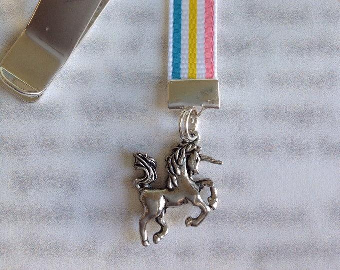 Unicorn Bookmark / Rainbow Unicorn Bookmark / Unicorn Lover Bookmark *FREE SHIPPING* Attach clip to book cover, never lose your bookmark!