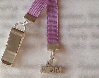 Mom Bookmark / #1 Mom Bookmark *LAST ONE* - Attach to book cover then mark the page with the ribbon. Mothers Day Gift