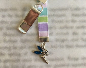 Fairy Bookmark / Tinkerbell / Cute Bookmark *FREE SHIPPING* - Clip to book cover then mark page with ribbon. Never lose your cute bookmark!