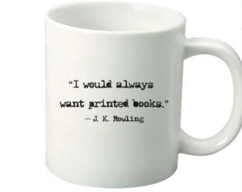 Book Lovers Mug / J K Rowling Quote Mug / Just One More Chapter Mug / Book Lover Gift / Reader Mug / Book Quote Mug