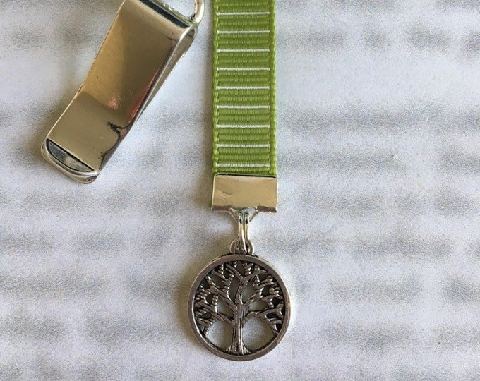 Tree of Life bookmark / Family Tree Bookmark *FREE SHIPPING* - Attach to book cover then mark page with ribbon. Never lose your bookmark!
