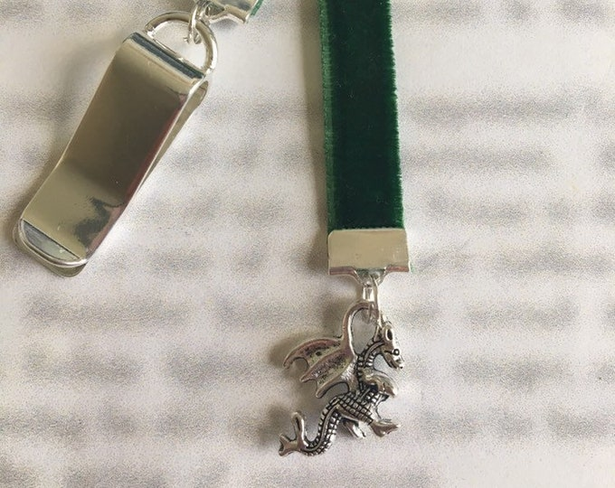 Dragon bookmark / Khaleesi Bookmark / GOT Bookmark *FREE SHIPPING* - Clip to book cover then mark page with ribbon