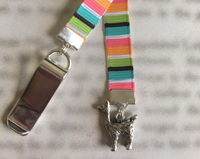 Llama bookmark Cute bookmark Alpaca bookmark *FREE SHIPPING* Attach clip to book cover then mark page with ribbon. Never lose your bookmark!